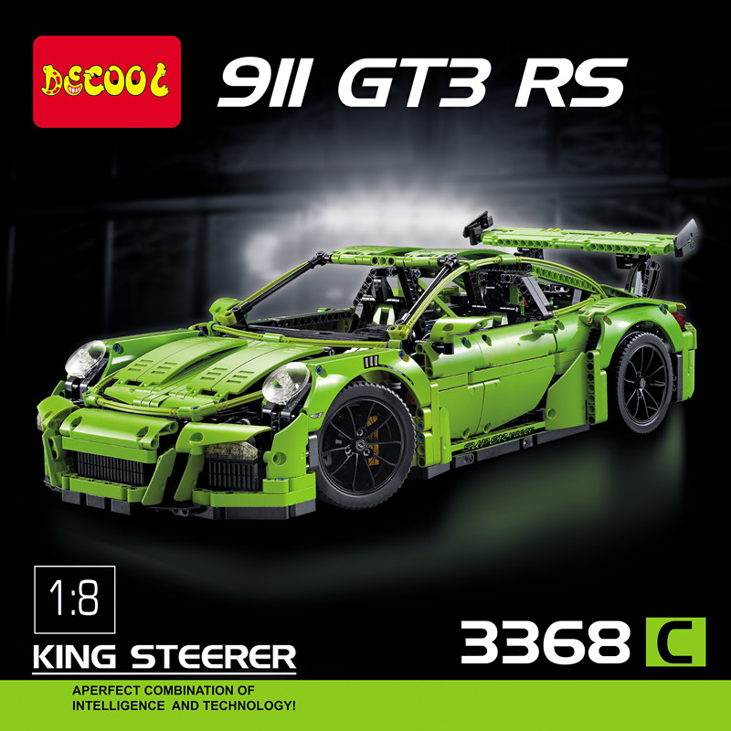 technic porsche 911 gt3 rs lego 42056 decool 3368 alibricks. Black Bedroom Furniture Sets. Home Design Ideas