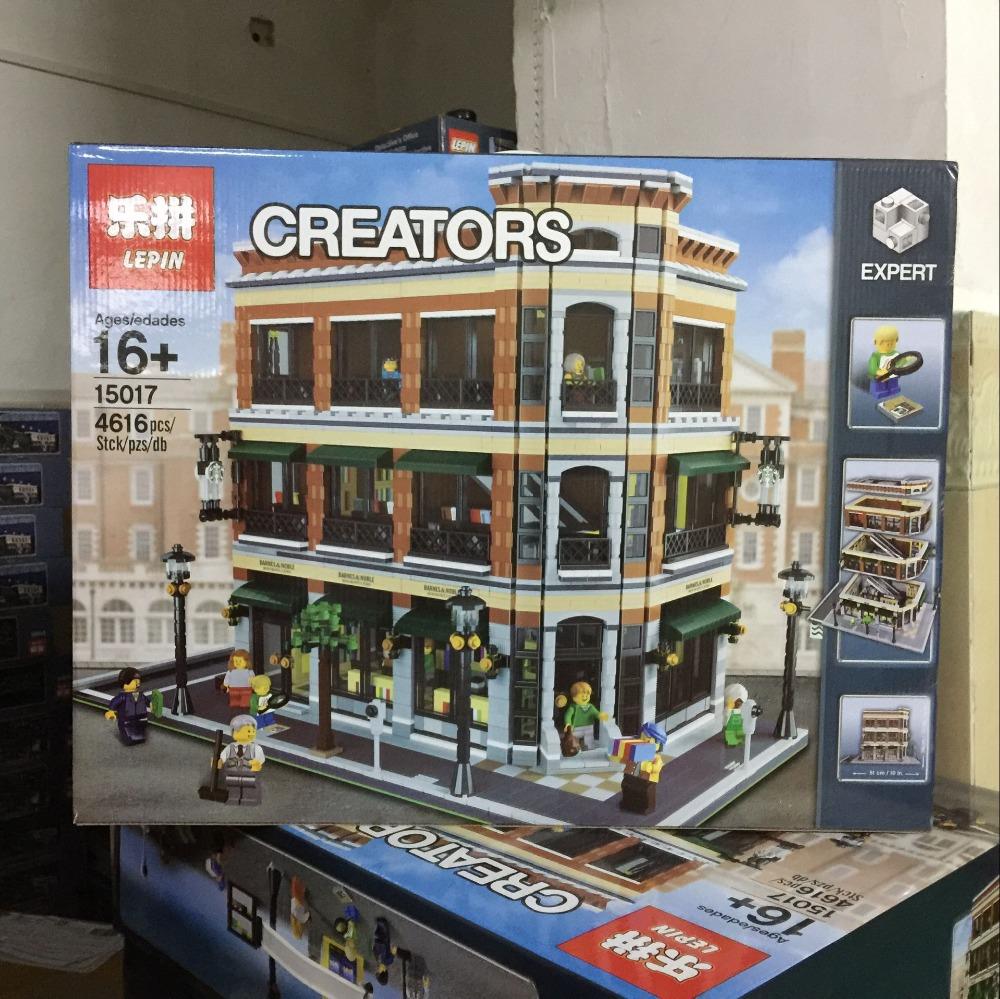Modular Building Barnes Noble Starbucks Store Lepin 15017 15003 Town Hall 5 4 150171