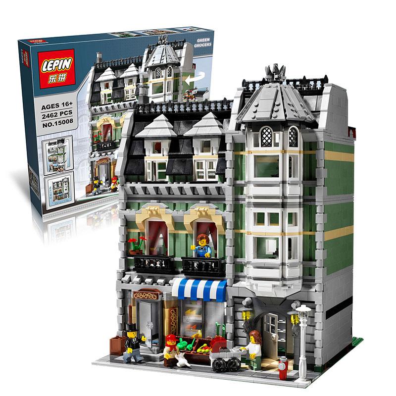 creator expert green grocer lego 10185 lepin 15008. Black Bedroom Furniture Sets. Home Design Ideas