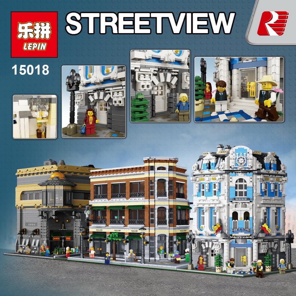 Creator Sunshine Hotel Lepin 15018 Alibricks 15003 Town Hall